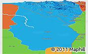 Political Panoramic Map of Misan