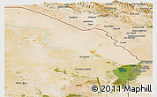 Satellite Panoramic Map of Misan