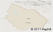 Shaded Relief Panoramic Map of Misan, lighten
