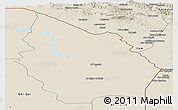 Shaded Relief Panoramic Map of Misan