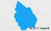 Political Simple Map of Misan, single color outside