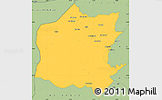 Savanna Style Simple Map of Neineva
