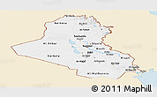 Classic Style Panoramic Map of Iraq, single color outside