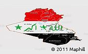 Flag Panoramic Map of Iraq