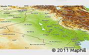 Physical Panoramic Map of Iraq