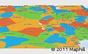 Political Panoramic Map of Iraq