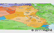 Political Shades Panoramic Map of Iraq