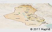 Satellite Panoramic Map of Iraq, lighten