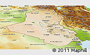 Satellite Panoramic Map of Iraq, physical outside