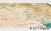 Satellite Panoramic Map of Iraq
