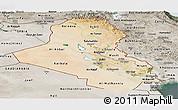 Satellite Panoramic Map of Iraq, semi-desaturated