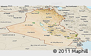 Satellite Panoramic Map of Iraq, shaded relief outside
