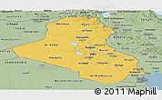 Savanna Style Panoramic Map of Iraq