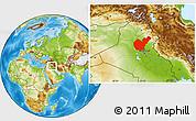 Physical Location Map of Salahuddin