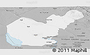 Gray Panoramic Map of Salahuddin