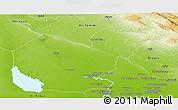 Physical Panoramic Map of Salahuddin