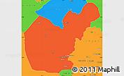 Political Simple Map of Salahuddin