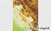 Physical Map of Sulaymaniyah