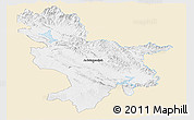 Classic Style Panoramic Map of Sulaymaniyah, single color outside