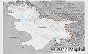 Gray Panoramic Map of Sulaymaniyah