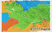 Political Panoramic Map of Sulaymaniyah