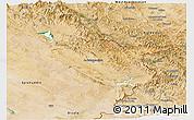 Satellite Panoramic Map of Sulaymaniyah