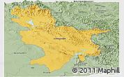 Savanna Style Panoramic Map of Sulaymaniyah