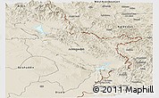 Shaded Relief Panoramic Map of Sulaymaniyah