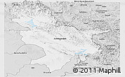 Silver Style Panoramic Map of Sulaymaniyah