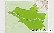 Physical 3D Map of Wasit, lighten