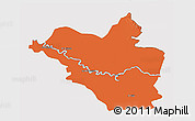 Political 3D Map of Wasit, cropped outside