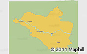Savanna Style 3D Map of Wasit, single color outside
