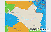 Shaded Relief 3D Map of Wasit, political outside