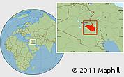 Savanna Style Location Map of Wasit