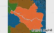 Political Map of Wasit, darken