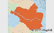 Political Map of Wasit, lighten
