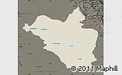 Shaded Relief Map of Wasit, darken