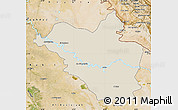 Shaded Relief Map of Wasit, satellite outside