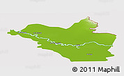 Physical Panoramic Map of Wasit, cropped outside