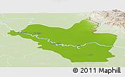 Physical Panoramic Map of Wasit, lighten