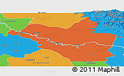 Political Panoramic Map of Wasit