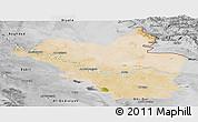 Satellite Panoramic Map of Wasit, desaturated
