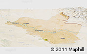 Satellite Panoramic Map of Wasit, lighten