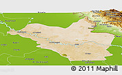 Satellite Panoramic Map of Wasit, physical outside