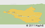 Savanna Style Panoramic Map of Wasit, single color outside