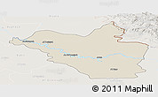 Shaded Relief Panoramic Map of Wasit, lighten