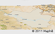 Shaded Relief Panoramic Map of Wasit, satellite outside