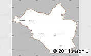 Gray Simple Map of Wasit, cropped outside