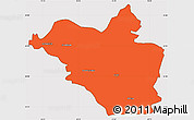 Political Simple Map of Wasit, cropped outside
