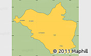 Savanna Style Simple Map of Wasit, cropped outside